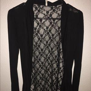 Soft cotton lace cardigan